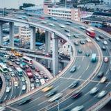 Bezige verkeersclose-up Stock Afbeeldingen