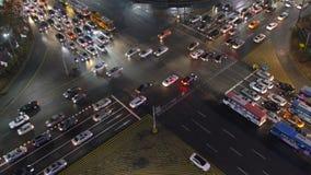 Bezige wegverbinding in Seoel, Zuid-Korea stock video