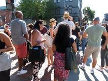 Bezige Zondag in Georgetown stock foto's