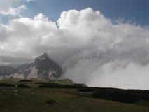 Bezimeni vrh veiled with clouds Royalty Free Stock Photo