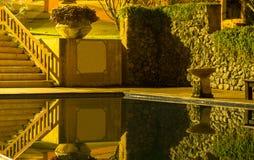 Bezinning in de pool bij nacht Royalty-vrije Stock Afbeeldingen
