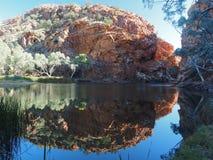 Bezinning in de vijver van Ellery Creek Big Hole stock afbeeldingen