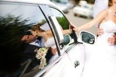 Bezinning in een auto Stock Afbeeldingen