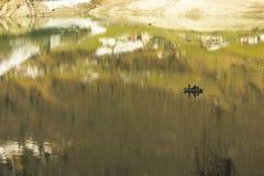 Bezinning in het meer Stock Afbeeldingen