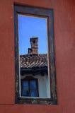 Bezinning in het venster Royalty-vrije Stock Afbeeldingen