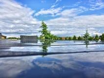 Bezinning na regenachtige dag Stock Afbeelding
