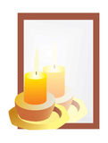 Bezinning van de kaarsen in de spiegel vector illustratie