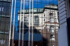 Bezinning van een gebouw Stock Afbeelding