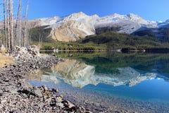 Bezinning van het Park van de jaspis de Nationale bij meer Maligne Stock Afbeeldingen