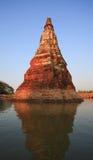Bezinning van oude pagode in het water Royalty-vrije Stock Foto