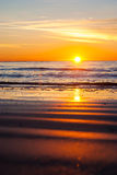 Bezinning van Zon in het Zand Stock Afbeeldingen