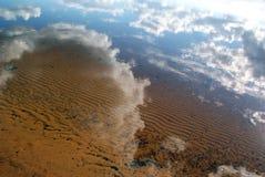 Bezinning in water Stock Foto's