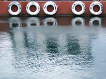 Bezinning in water stock afbeelding