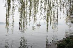 Bezinning in XiHu-Meer Royalty-vrije Stock Foto's