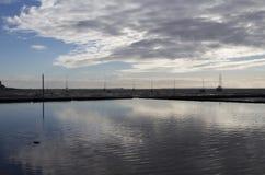 Bezinningen bij Leigh-op-Overzees, Essex, Engeland Stock Foto's