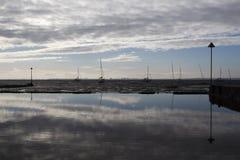 Bezinningen bij Leigh-op-Overzees, Essex, Engeland Royalty-vrije Stock Foto's