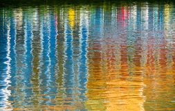 Bezinningen bij rivier Royalty-vrije Stock Afbeeldingen