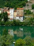 Bezinningen in de rivier van de Rhône Royalty-vrije Stock Foto