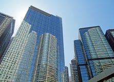 Bezinningen in de wolkenkrabbers van Hong Kong Royalty-vrije Stock Foto