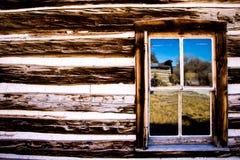 Bezinningen in het venster Stock Foto's