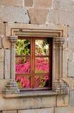 Bezinningen in het venster Stock Afbeeldingen