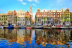 Bezinningen van Amsterdam Stock Foto