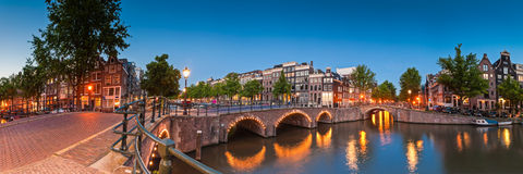 Bezinningen van Amsterdam, Holland Stock Foto
