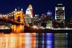 Bezinningen van Cincinnati stock afbeeldingen
