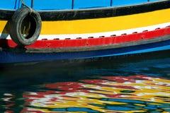Bezinningen van de boot stock afbeelding