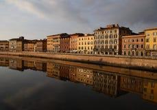 Bezinningen van Pisa royalty-vrije stock foto's