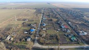 Bezirk Dorf Elitnyy Krasnoarmeyskiy, Krasnodar Krai, Russland Fliegen an einer Höhe von 100 Metern Die Ruine und die Vergessenhei Stockfoto