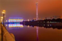 Bezirk-Guangzhou-Turm Pearl River Guangzhou Guangdong China Lizenzfreies Stockfoto