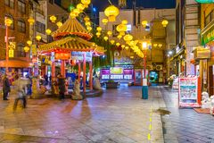 Bezirk Kobes, Japan Chinatown stockbilder