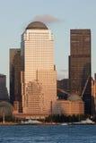 Bezirk Manhattan-Finantial am Sonnenuntergang Lizenzfreie Stockfotografie