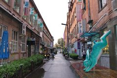 Bezirk mit 798 Künsten in Peking Lizenzfreie Stockfotos
