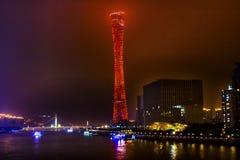 Bezirk-Turm-Sport-Stadion Pearl River Guangzhou Guangdong China Lizenzfreie Stockfotos