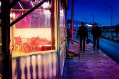 Bezirks-Basar nachts Lizenzfreie Stockbilder