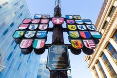 Bezirksbaum von Wappen von der Schweiz Stockbilder