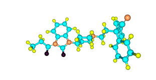 Bezitramide δομή που απομονώνεται μοριακή στο λευκό Στοκ εικόνα με δικαίωμα ελεύθερης χρήσης