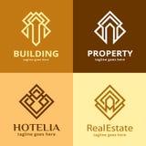 Bezitshuis Logo Template Design Vector Stock Afbeelding