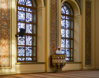 Bezm-i Alem Valide Sultan Mosque imam preaching in the pulpit. Royalty Free Stock Photography