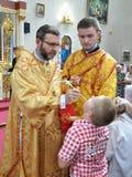 Bezoek aan Chortkiv-Hoofdstukkerk Sviatoslav Shevchuk _15 Stock Afbeeldingen