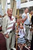 Bezoek aan Chortkiv-Hoofdstukkerk Sviatoslav Shevchuk _19 Royalty-vrije Stock Foto's