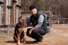 Bezoek met de dierenarts stock foto's