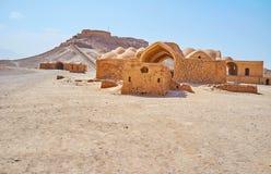 Bezoek Perzische woestijn, Yazd, Iran stock fotografie