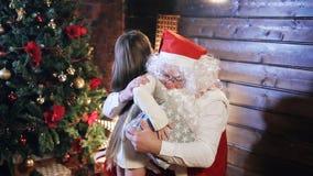 Bezoek van Santa Claus stock video