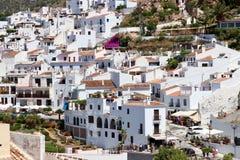 Bezoekend het dorp van Frigiliana, de Vakantie van Costa del Sol - van Spanje Stock Afbeeldingen