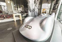 Bezoekende AUDI Museum royalty-vrije stock afbeeldingen