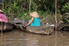 Bezoekende Mekong Delta stock foto's