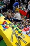 BEZOEKERS BIJ LEGO-WERELDmarkt 2017 Royalty-vrije Stock Foto
